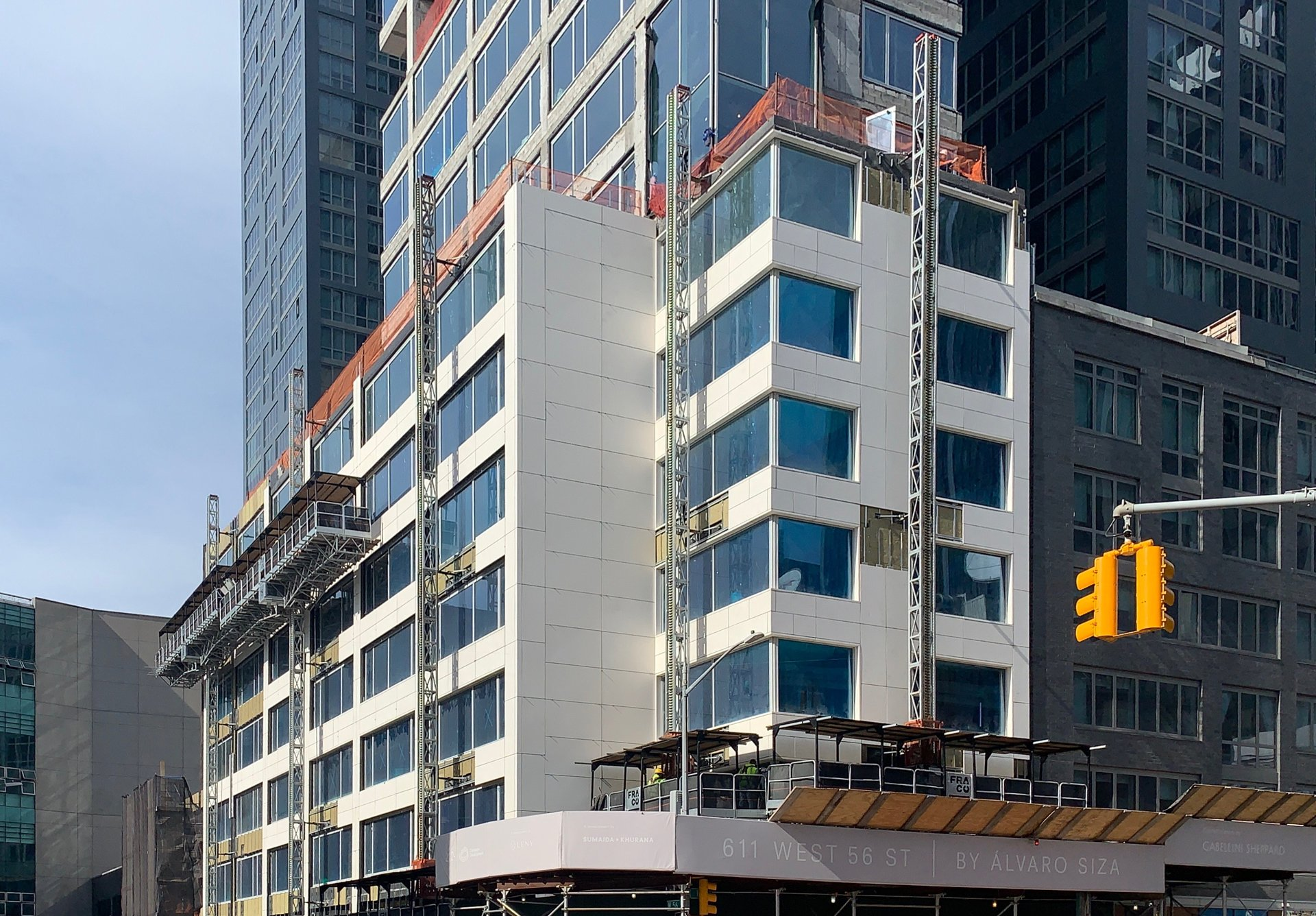 611 West 56th Street building in progress