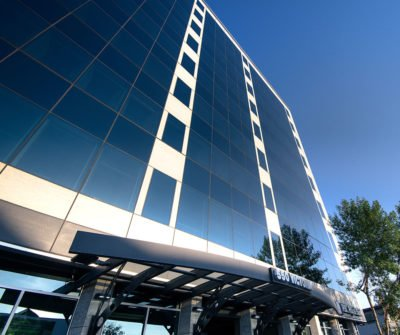 Freeze thaw tested Trimstone panels on the Royal Canadian Bank in Prince George, BC Canada.