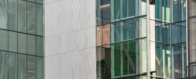 Trimstone Natural Stone Lightweight Panels Create Modern Exterior at University of Texas