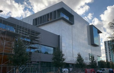 Approximately 40,000 sq. ft. of granite stone panels installed on the new Museum of the American Arts & Crafts